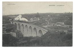 CPA - NONTRON, VUE GENERALE - Dordogne 24 - Train - Nontron
