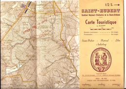 SAINT-HUBERT PLAN CARTE TOURISTIQUE 1: 40.000    60 X 22 CM - Dépliants Touristiques