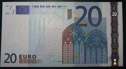 20 EURO N007G5 Draghi Serie Y Greece Perfect UNC - EURO