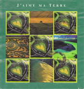 France Bloc N° 43 Saint Valentin J'aime Ma Terre Année 2002 Bloc Oblitéré - Blocs & Feuillets