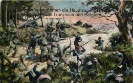 Guerre 14-18 - Feldpostkart - Ypres -Les Allemands éliminent Les Français Et Belges De La Route D'Ypres - Un Petit Pli - Guerre 1914-18
