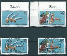 Deutschland / Germany 1983: Michel-Nr. 1172-1173** / °Sporthilfe: Sportereignisse '83- #B3