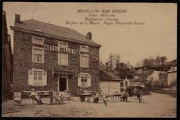 Rouillon - Sur - Meuse --- Hotel Belle Vue - Belle Animation Et Rare !