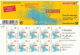 """BRD MH 39IoZ """"10x1,10 DM Briefmarken Zur Expo 2000 Hannover"""" Postfrisch, Mi.-Preis 14,00 €"""