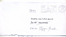 Lettre Flamme Custines Pole Industriel + Cachet PP - Postmark Collection (Covers)