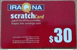Scheda Telefonica Iraq Scratchcard (Red) $ 30 Usata - Iraq