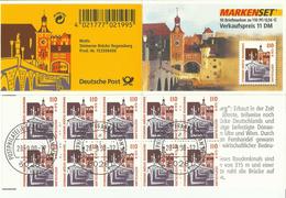 """BRD MH 42 """"10x1,10 DM Briefmarken Zu Sehenswürdigkeiten; Brücke Zu Regensburg"""" Gestempelt Mi.-Preis 16,00 €"""