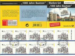 """BRD MH 48b """"10x0,56 € Briefmarken Zu 1000 Jahre Bautzen"""" Gestempelt Mi.-Preis 30,00 €"""