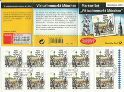 """BRD MH 53 """"10x0,45 € Briefmarken Zu Viktualienmarkt München"""" Gestempelt Mi.-Preis 14,00 €"""