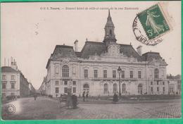 37 - Tours - Nouvel Hôtel De Ville Et Entrée De La Rue Nationale - Editeur: G.B N°6