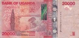 BILLETE DE UGANDA DE 20000 SHILLINGS CON UNA VACA DEL AÑO 2010 (COW) (BANKNOTE) - Uganda