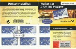 """BRD MH 54aI """"10x1,44 € Briefmarken Zu Deutscher Musikrat"""" Gestempelt Mi.-Preis 35,00 €"""
