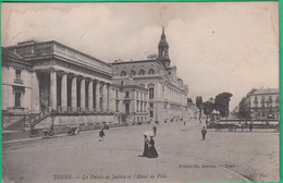 37 - Tours - Le Palais De Justice Et L'Hôtel De Ville - Editeur: Péricat N°42