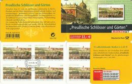 """BRD MH 59I """"10x2,20 € Briefmarken Zu Preußische Schlösser Und Gärten """" Gestempelt Mi.-Preis 50,00 €"""