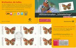 """BRD MH 60 """"10x0,55+025 € Briefmarken Zu Schmetterlingen """" Gestempelt Mi.-Preis 18,00 €"""