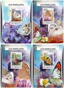 DJIBOUTI 2016 - Butterflies. OFFICIAL Deluxe Sheets