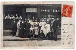 Carte-photo  -  Epicerie E. CHEF à YERRES - 1908 - Yerres