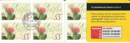 "BRD MH 51a ""10x0,55 € Briefmarken Zu Rosengruß "" Gestempelt Mi.-Preis 14,00 €"