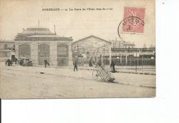 33-BORDEAUX LA GARE DE L ETAT VUE DE COTE - Bordeaux