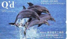 Télécarte Japon * DAUPHIN * DOLPHIN (862) Japan () Phonecard * DELPHIN * GOLFINO * DOLFIJN * - Dolphins