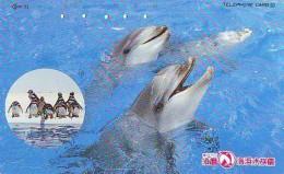Télécarte Japon * DAUPHIN * DOLPHIN (863) Japan () Phonecard * DELPHIN * GOLFINO * DOLFIJN * - Dolphins