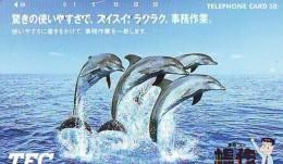 Télécarte Japon * DAUPHIN * DOLPHIN (864) Japan () Phonecard * DELPHIN * GOLFINO * DOLFIJN * - Dolfijnen