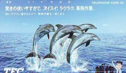 Télécarte Japon * DAUPHIN * DOLPHIN (864) Japan () Phonecard * DELPHIN * GOLFINO * DOLFIJN * - Dolphins