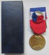 Médaille Civile Du Travail Attribuée En 1981 Nominative Avec Son Boitier (v) - France