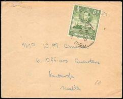 1938 MALTA SINGLE HALF PENCE KING LOCAL RATE - Francobolli