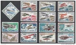 MONACO 1964 - SERIE N°637 A 651 - 15 TP NEUFS**