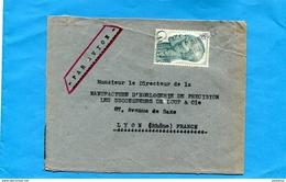 """MARCOPHILIE- -lettre-CAMEROUN -non Oblitérée Au Départ -- Cachet Linéiare""""LYON RP ARRIVEE"""" Années 50 - Marcophilie (Lettres)"""