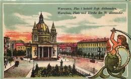 Pologne - Warschau - Platz Und Kirche Des St. Alexander - Pologne