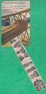 37 - Tours - Carte à Système Dépliant - Editeur: Delboy (avion)