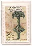 ANDORRA FRANCESA 1989 - PATRIMONIO ANDORRANO - ARQUEOLOGIA - YVERT Nº 381**