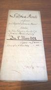 Lettre De Rente - 1828 - Hopital De Berne - Lutry - Canton De Vaud - Documents Historiques
