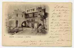 Lil077 CPA 8 Algérie Alger L'Amirauté Animé (voyagé  1901)