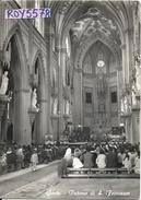 Lazio-latina-gaeta Veduta Interno Chiesa Di S.francesco Affollata Di Fedeli Che Ascoltano La Messa Animatissima Anni/60 - Italy