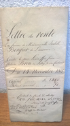 Lettre De Rente - 1818 - Lausanne - Lutry - Canton De Vaud - Documents Historiques