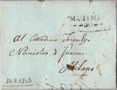 V24 - LOMBARO VENETO - PREFILATELICA DA MANTOVA 1803 - NAPOLEONICA - ...-1850 Voorfilatelie
