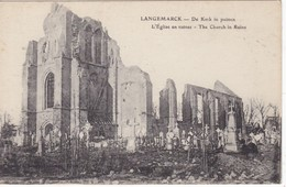 CPA LANGEMARCK L'église En Ruines - Langemark-Poelkapelle
