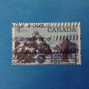 1984 CANADA FRANCOBOLLO USATO STAMP USED - PARCHI NAZIONALI  GLACIER 1