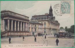 37 - Tours - Le Palais De Justice Et Le Nouvel Hôtel De Ville - Editeur: LL N°53