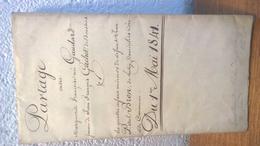 Partage - 1841  - Timbre Ordinaire 5 BATZ - Canton De Vaud - Boussens , Cossonay , Crissier , Lausanne - Documents Historiques