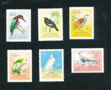 VIETNAM VIÊT-NAM - Série Des Oiseaux 1963 - Yvert 333/338 Neufs Sans Charnière ** MNH Cote 45€