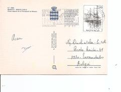 Monaco ( CP De 1987 De Monte-Carlo Vers La Belgique à Voir)