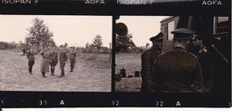 2 Fotos -  2. WK - Deutsche Soldaten - Inspektion - Aufklärungsgruppe 11 Küstenstaffel Krim - 7,5*2,5cm (28892) - Orte