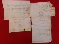 45 REGIMENT DE LA GARDE MOBILE CACHET MILITAIRE SIÈGE DE PARIS - Documenti