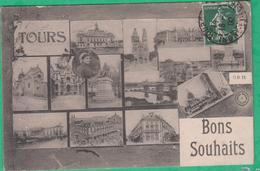 37 - Tours - Bons Souhaits - Multi-vues - Editeur: G.B N°11