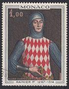 MONACO - 1967 - Yvert 734 Usato, 4 F., Rainier I