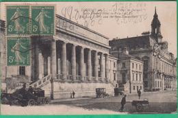 37 - Tours - Le Palais De Justice Et Le Nouvel Hôtel De Ville - Editeur: Papeghin N°46